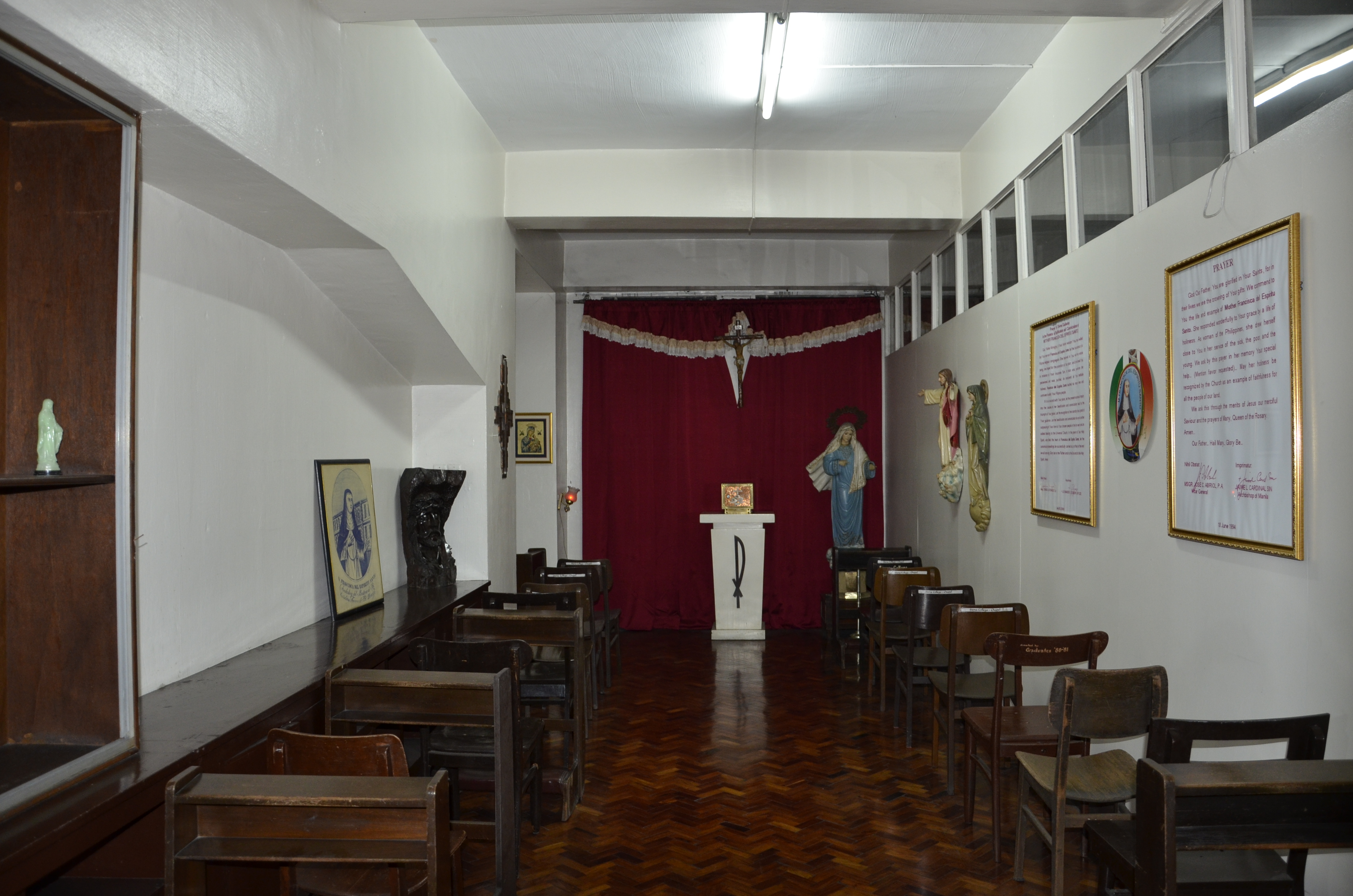 COLLEGE PRAYER ROOM - COLLEGE FACILTY